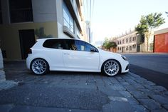 candy white mk6 GTI side profile