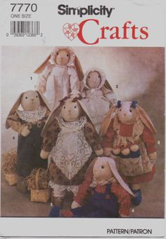 90s Simplicity Crafts Pattern 7770 Bunny with by CloesCloset, $8.00