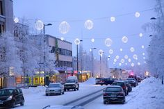 I think my hometown is really cozy at winter. City Vibe, Cozy Place, Finland, Travel Photos, Times Square, Street View, Winter, Places, Image