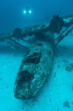 Wreck of a PBY Catalina seaplane, Biak, West Papua, Indonesia...