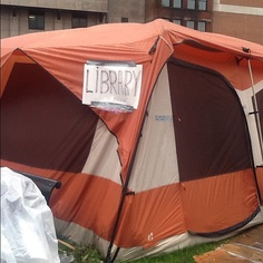 Library tent at Occupy Boston