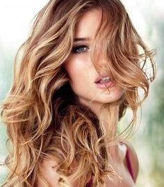 Romantic Blonde Highlighted Hairstyle Adding some icy notes to your caramel strands ends up with this fantastic light clean shade, slightly reminiscent of strawberry blonde that blends marvelously with the light brown base