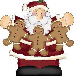 Santa and Gingerbread Men