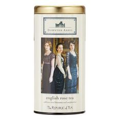 Downton Abbey® English Rose Tea | The Republic of Tea - This vibrant, ruby-red infusion of rose, raspberry and hibiscus has fruity, floral notes and a touch of sweetness.