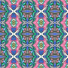 Nouveau Spring vertical stripe fabric by edsel2084 on Spoonflower - custom fabric