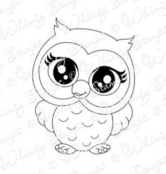 Dollar Digi Deals : Whimsy Stamps – My Pin's Owl Coloring Pages, Coloring Books, Owl Templates, Owl Tattoo Design, Whimsy Stamps, Owl Crafts, Owl Patterns, Owl Art, Cute Owl