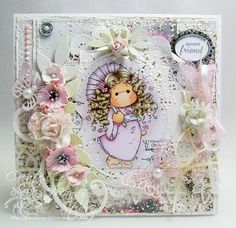 Shabby Chic Tripping Flower Tilda by Mandy Stacey - Cards and Paper Crafts at Splitcoaststampers