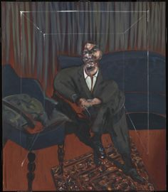 FRANCIS BACON Seated Figure 1961 Oil paint on canvas 1651 x 1422 mm © The Estate of Francis Bacon. Image courtesy Tate.