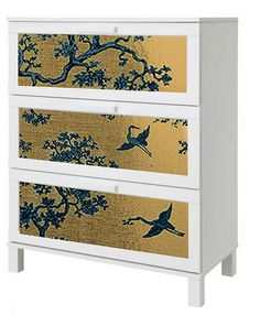 Love the Aneboda hack and really love this Florence Broadhurst wallpaper but it's $380 AUD.  Love the idea though.
