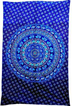 Mandala Tapestry Tapestries Indian Tapestry by JaipurHandloom Tapestry Bedding, Dorm Tapestry, Indian Tapestry, Mandala Throw, Mandala Tapestry, Dope Rooms, Handmade Wall Hanging, Indian Mandala, My New Room