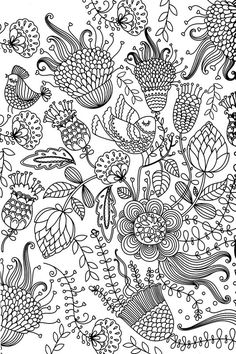 Bird Flower Abstract Doodle Zentangle Coloring pages colouring adult detailed advanced printable Kleuren voor volwassenen coloriage pour adulte anti-stress