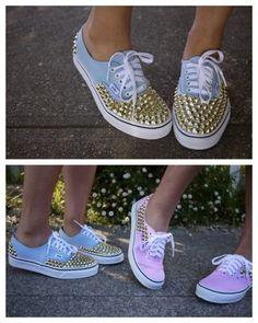 DIY Studded Sneakers Tutorial.
