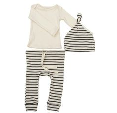 Striped Organic Cotton Layette Set for baby boy Fashion Moda, Boy Fashion, Mabo Kids, Baby Boy Outfits, Kids Outfits, Bebe Love, Going Home Outfit, Inspiration Mode, Little Fashion