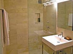Pretty limestone bathroom