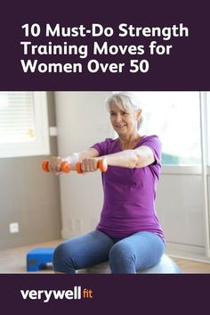 has shown that exercise can slow down the physiological aging clock; check out these 10 strength​ training moves for women over has shown that exercise can slow down the physiological aging clock; check out these 10 strength​ training moves for women over Pilates, Selena Gomez Looks, Fitness Senior, Senior Workout, Strength Training Women, Strength Training For Beginners, Strenth Training For Women, Women Weight Training, Weight Lifting For Women