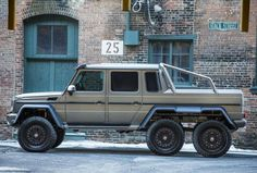 A 536-horsepower biturbo V-8 engine hauls this Mercedes G63 AMG 6x6 from zero to 60 mph in 7.8 seconds.