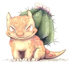 "almondfeather: "" Bulbasaur subspecies with an ability similar to rough skin and iron barbs. Pokemon Fan Art, My Pokemon, Pokemon Fusion, Pokemon Bulbasaur, Pokemon Stuff, Pokemon Breeds, Original Pokemon, Curious Creatures, Fanart"