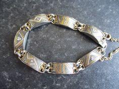 Gorgeous Damascene Bracelet - Vintage Damascene Bracelet - Spanish Jewellery - Black and Gold Jewellery - Made In Spain – Damascene by VintageHub2016 on Etsy