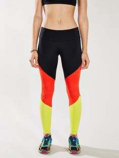 Need these... I mean, it's basically a walking german flag... Onzie Black Track Legging - Without Walls