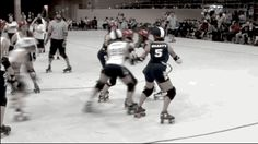 Jammers look for those openings!! You Should Be Watching More Roller Derby Footage
