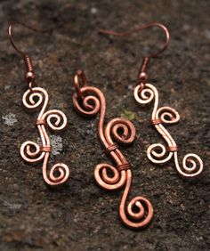 Hammered Copper Spiral Swirl Pendant and Earrings. This lovely BoHo style set of copper jewelry makes a beautiful addition to any woman's collection. Inspired by Art Nouveau's flowing organic lines, as well as a minimalist simplicity.