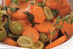 Carrots with olives Olives, Vegetable Recipes, Carrots, Vegetables, Food, Essen, Carrot, Meals, Yemek