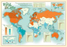 Buy maps online from the exclusive collection of Canada maps, US maps, city maps, World maps, and wall maps for sale. All maps are delivered locally in Canada. Coffee World, Coffee Time, Postal Code Map, Espresso Shot, Wall Maps, Us Map, City Maps, Coffee Roasting, Home Brewing