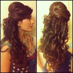 Wedding hairstyles curly hair updo for 2019 Curly Hair Styles, Curly Hair Updo, Wavy Hair, Wavy Curls, Curly Lob, Long Curly, Curly Braids, Curls Hair, Loose Curls
