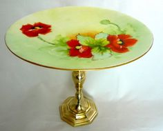 i love cake stands made from antique plates.