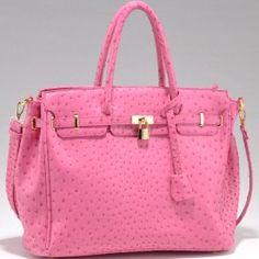 Emperia tote bag with ostritch skin texture & tassel $55.00