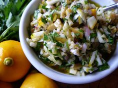 Meyer Lemon & Green Olive Salsa