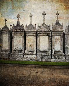 New Orleans cemetery  grave markers