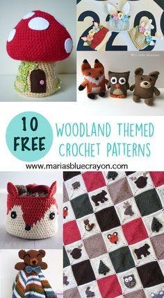 10 Free Crochet Patterns | Woodland Theme | Crochet Hats | Amigurumi | Afghan