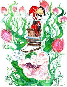 Harley Quinn and The Joker by Dustin Nguyen Joker Tumblr, Joker Y Harley Quinn, Dustin Nguyen, Joker Art, Joker Pics, Hq Marvel, Geek Art, Gotham City, Poison Ivy