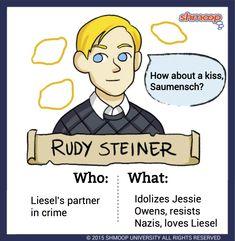 Rudy Steiner in The Book Thief - Chart Ya Books, I Love Books, Good Books, Books To Read, Typewriter Series, Shel Silverstein, Classic Literature, Classic Books, The Book Thief Rudy