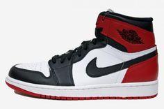 NIKE AIR JORDAN 1 RETRO HIGH OG WHITE/BLACK-GYM RED #sneaker