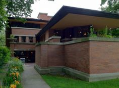 Robie House. Prairie Style. Frank Lloyd Wright. 1910. Chicago, Illinois