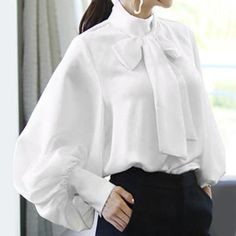 Bishop Sleeve, Chiffon, Party Shirts, Business Attire, Blouse Styles, Types Of Sleeves, Shirt Blouses, Blouses For Women, Casual Shirts
