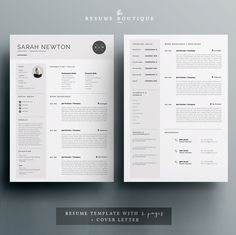 Resume Template and Cover Letter Template for Word DIY Cover Letter Template, Template Cv, Letter Templates, Resume Templates, Cv Design, Resume Design, Design Trends, Graphic Design, Portfolio Covers