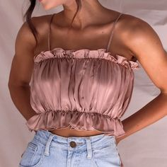 Women Tops Ladies Casual Solid Color Fold Basic Strappy Solid Tank Tops Drop Shipping Color black Size S Teen Fashion Outfits, Diy Fashion, Retro Fashion, Ideias Fashion, Queer Fashion, Modest Fashion, Ghana Fashion, Vintage Fashion, Fashion Hair