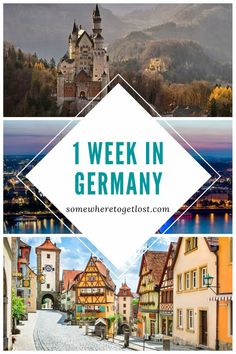 Take in Germany's scenery, food, culture, and history with this 1 week Germany itinerary.#GermanyTravel #VisitGermany #1WeekGermany #EuropeTravel #Germany Cities In Germany, Germany And Italy, Visit Germany, Germany Travel, Europe Travel Guide, Travel Guides, Travel Destinations, Holidays Germany, Cultural Diversity