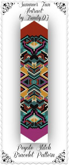 New Peyote Beading Bracelet Pattern | Here's your chance to test bead new designs and earn DISCOUNTS on your ...