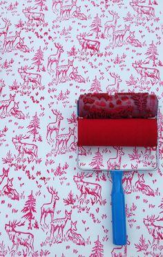 Patterned Paint Roller in Aspen Frost Design from by NotWallpaper, $19.00