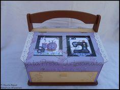 "Caixa de costura XXL ""Lilac Patchwork""."