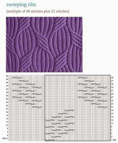 floating cables chart knitting - Google Search