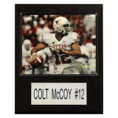 NCAA 12 x 15 in. Football Colt McCoy Texas Longhorns Player Plaque - 1215MCCOYC