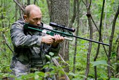 Science Goes Ballistic: 8 Guns for Hunting Knowledge. Shown above is Vladimir Putin and a tranquilizer gun.