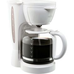 Rival 12-cup coffee maker -- nothing special, but it's better than the 5-cup pot my husband accidentally bought.