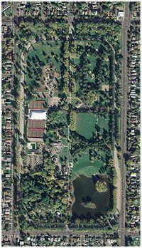Aerial view of Liberty Park, Salt Lake City, UT