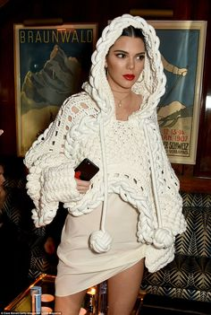 Kendall Jenner sizzles in chic knit at the LOVE and Burberry LFW bash #dailymail